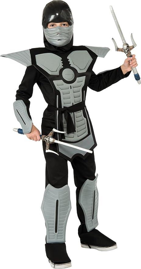 Deluxe Ninja Costume, Grey, Small