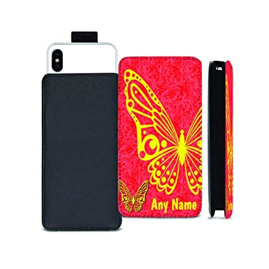 lowest price b5b51 2b982 VVM Tech Personalised NAME BUTTERFLY Printed Pull Tab Pouch Case ...