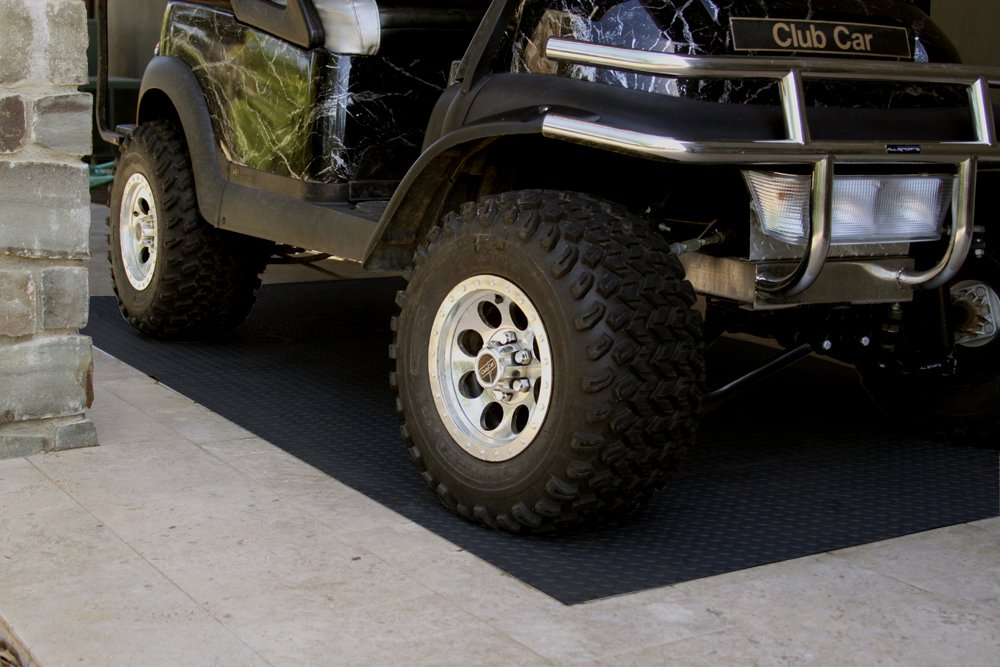 RoughTex Diamond Deck 86056 Charcoal Textured Roll Out Garage Floor Mat Various Sizes Available