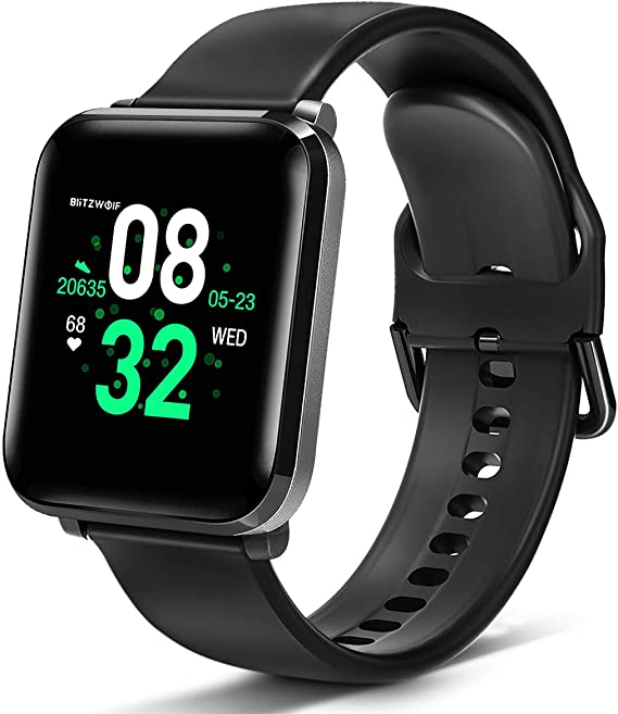 BlitzWolf Smart Watch, Smartwatch IP68 Waterproof, 1.3 inch HD Screen Activity Fitness Trackers with Heart Rate Monitor, Step Counter, Sleep Monitor, ...