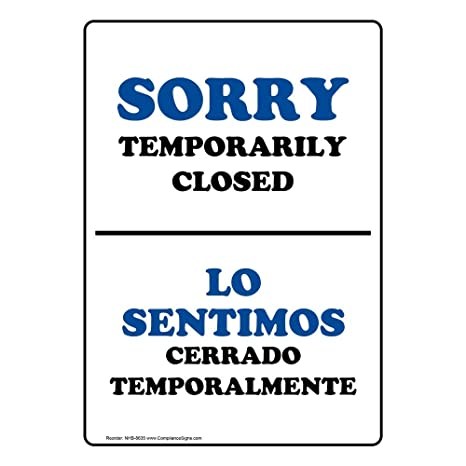 Restrooms Almond 10x7 in Baños English Plastic for Restrooms Spanish Sign