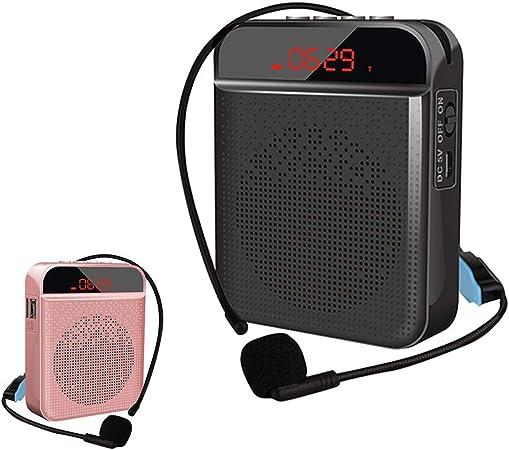 Mini amplificador de voz portátil recargable para profesores, altavoz personal, micrófono, auriculares, amplificador de voz, micrófono inalámbrico para exteriores, guías turísticos, promotores: Amazon.es: Hogar