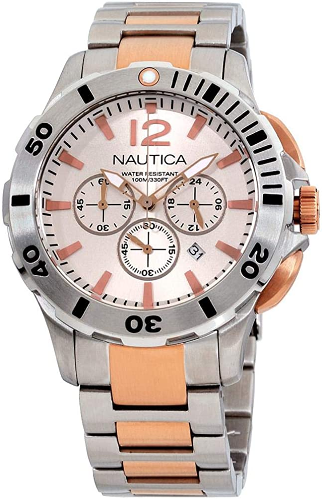 Nautica Silver Dial Stainless Steel Men's Watch A27525G