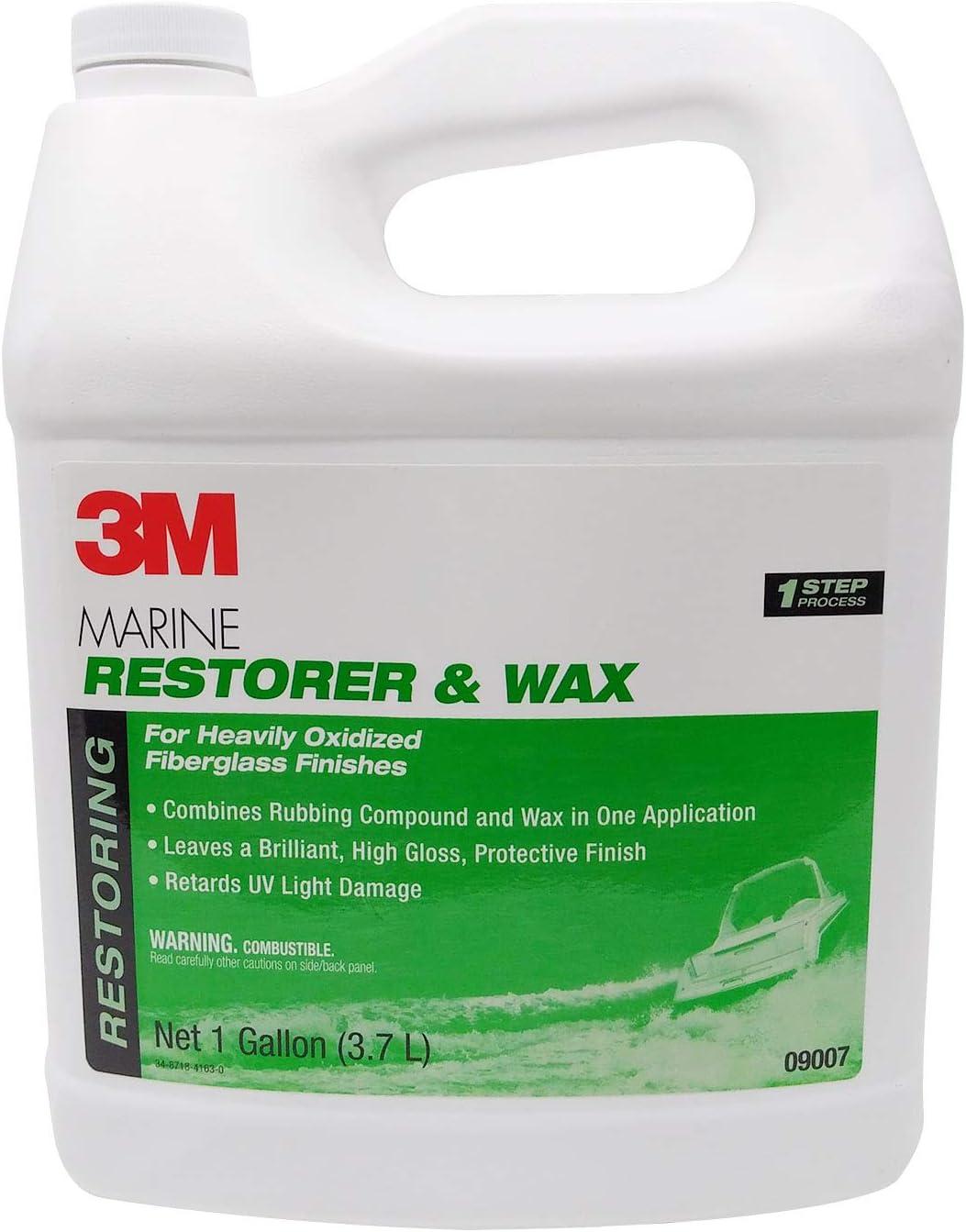 3M Marine Fiberglass Restorer & Wax Gallon