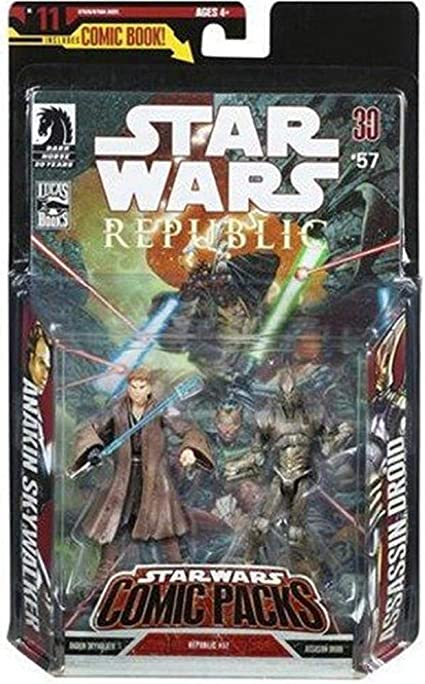 Star Wars Expanded Universe Comic Pack Action Figure Set: Anakin ...