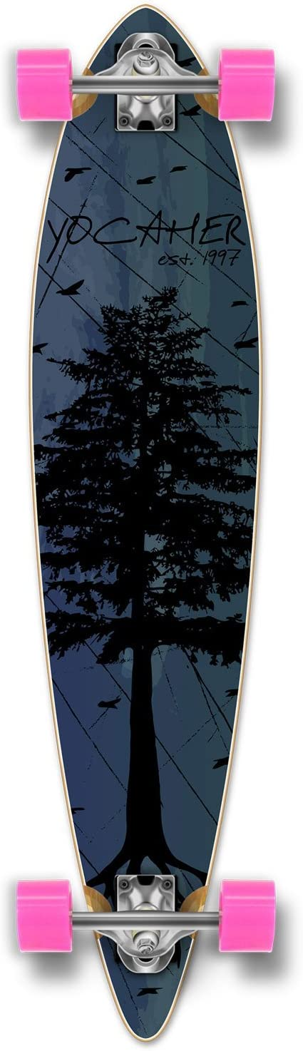 Yocaher in The Pines Blue Longboard Complete Skateboard – Available in All Shapes