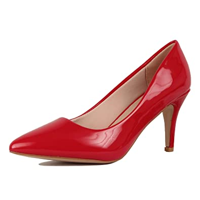 Guilty Shoes Womens - Embellished Classic Elegant - Closed Pointy Toe Low  Kitten Heel - Dress