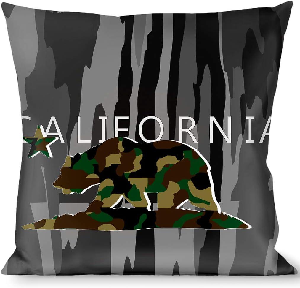 Amazon Com Pillow Decorative Throw California Flag Bear Black Camo Gray Camo Olive Home Kitchen