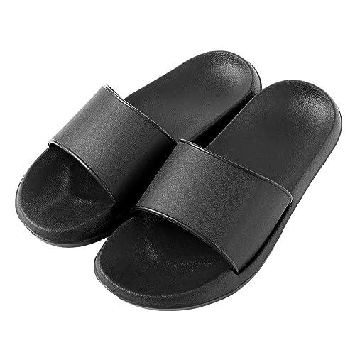 6b55eb5aad8a64 MeKaren Shower Slippers Women Men Anti-Slip Bath Flat Slipper for Indoor  Home House Slipper