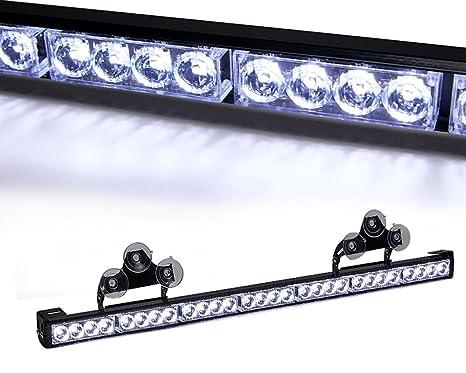 "48 LED 47/"" Red Flash Traffic Advisor Safety Emergency Warning Strobe Light Bar"
