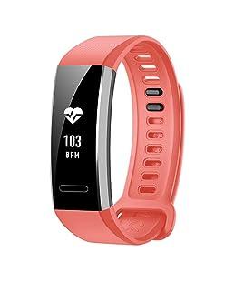 YuStar cinturino fascia per Huawei Band 2/2Pro, morbido silicone regolabile sport orologio Band Wristband di ricambio per Huawei Band 2/2Pro Smart Watch, Uomo/Donna, Pink, 140-205mm/5.5-8.1inch