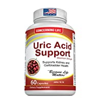Uric Acid Support, Cleanse & Kidney Function Control - Supports A healthy Natural...