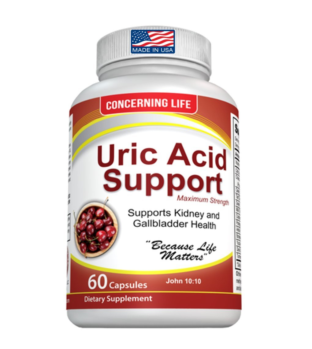 Uric Acid Support, Cleanse & Kidney Function Control - Supports A Healthy Natural Gout Inflammation - Includes Tart Cherry, Celery Seed Extract