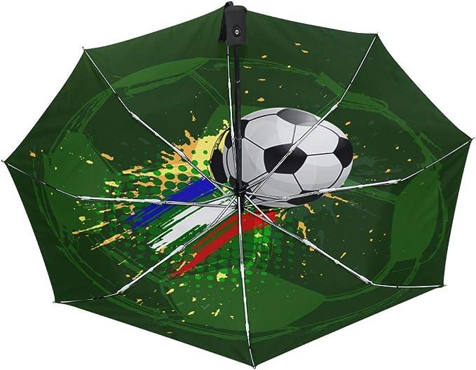 Paraguas de Viaje Compacto con Mango de Cierre automático y balón ...