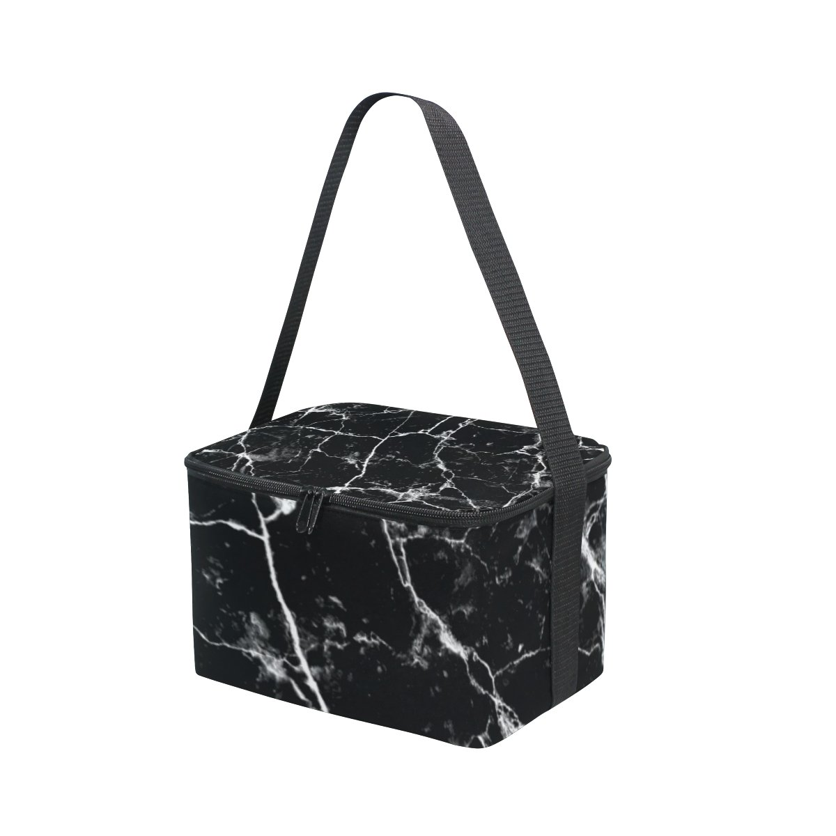 74bfce815ee3 Amazon.com: Vantaso Lunch Cooler Bag Insulated White Black Marble ...