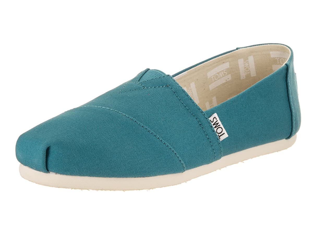 Amazon.com | TOMS Womens Alpargata Canvas Espadrille, Size: 6.5 B(M) US, Color: Peacock | Loafers & Slip-Ons