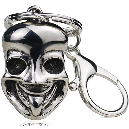 Máscara Vida Llavero Sonriente Acero Inoxidable Creativo Hip ...