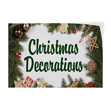 Christmas Business Decorations.Amazon Com Decal Sticker Multiple Sizes Christmas
