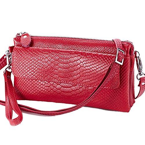Mefly Fashion Ladies Portare Borse In Pelle Dello Strato Trasversale Piccoli Pacchetti Rose Red