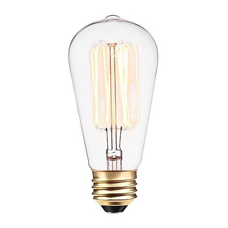globe electric 60w vintage edison s60 squirrel cage filament light bulb e26 base