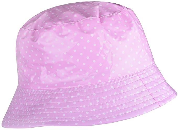 8463ddd3 WDSKY Women's Rain Hats Waterproof Packable Dots Pink at Amazon ...