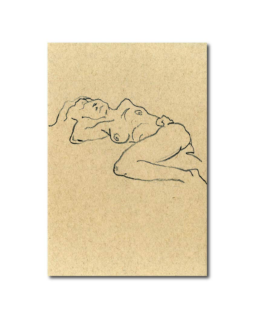 Amazon Com The Nude Female Figure Sketch Home Decor Woman S Body Shape Silhouette Wall Contemporary Art Print Unframed Perfect Bedroom Livingroom Dining Room Kitchen Or Office Decor 19 X 13 Handmade