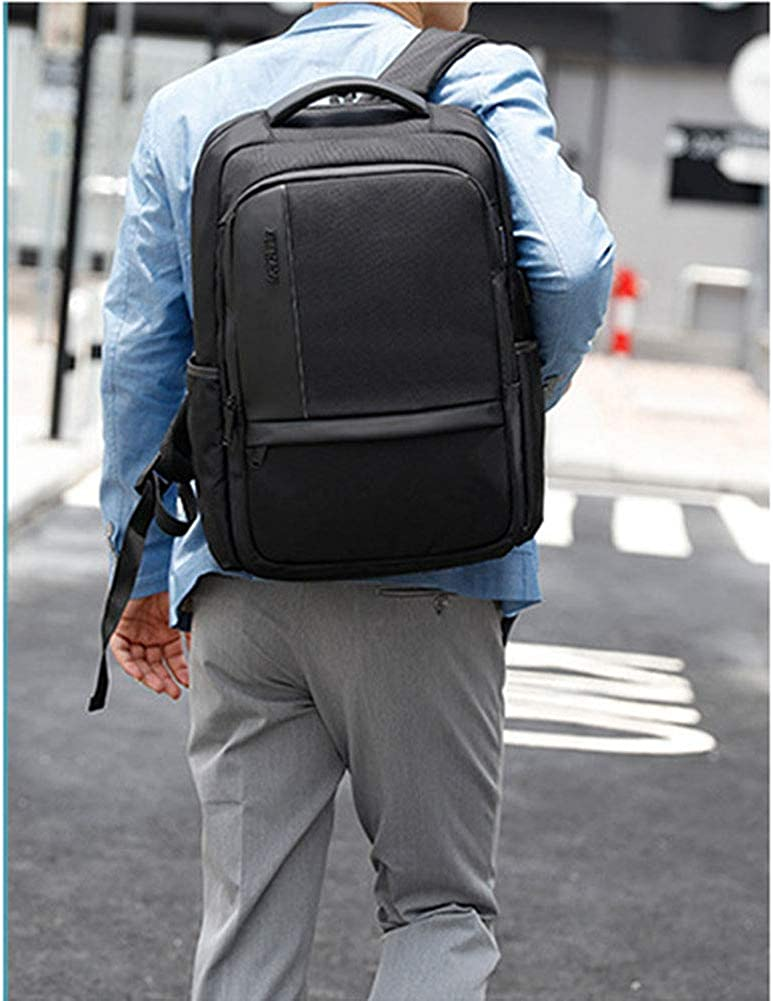 F-JX Unisex Laptop Backpackwith USB Charging Port,Large-Capacity Water-Repellent Backpack,Business Laptop Bag,Professional Backpack Bag for School,Work Travel