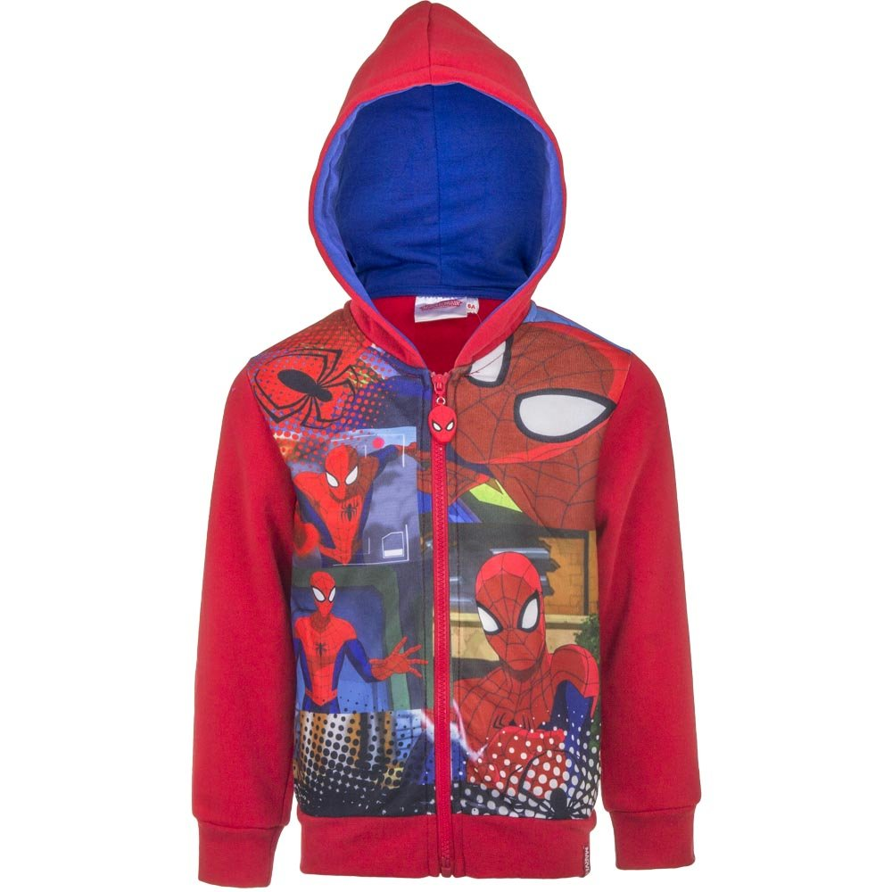 Spiderman Kids Boys and Girls Licensed Merchandise Red Hoodie Ages 3-8 Years Available