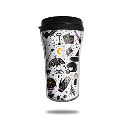 2ff3cbf77ac Amazon.com: Wqi Home Magic Witch Reusable Mini Travel Coffee Mug ...