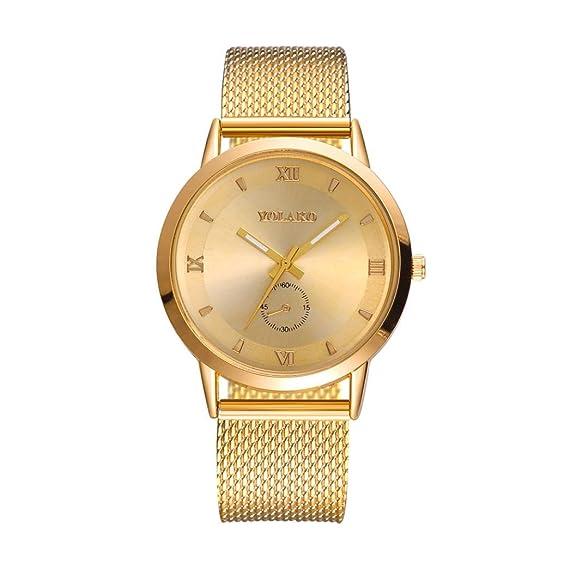 Reloj de malla de mujer, QinMM reloj de cuarzo de acero ...