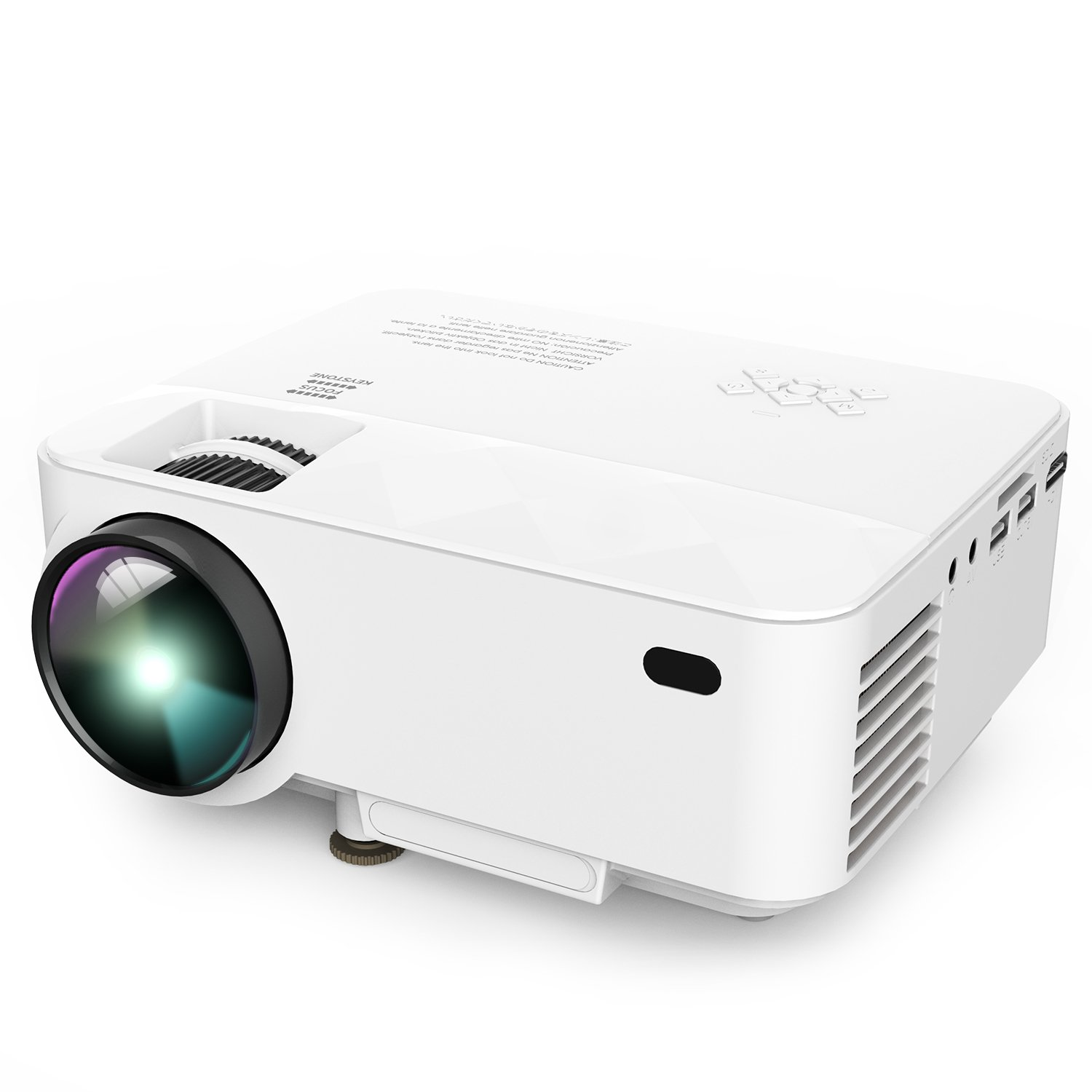 Projector, DBPOWER T21 Mini Projector with +10% Lumens Upgrade, Multimedia Home Theater Video Projector Support 1080P, HDMI, USB, SD Card, VGA, AV for Home Cinema, TV, Laptops, Game, Smartphone & iPad