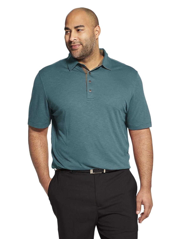 Turquoise Storm bleu 3X-grand grand Van Heusen manche courte Air Perforhommece Solid Polo Shirt Homme