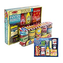 Maven Gifts: Melissa & Doug Fridge Food Set with Grocery Cans and Pantry Products by Maven Gifts