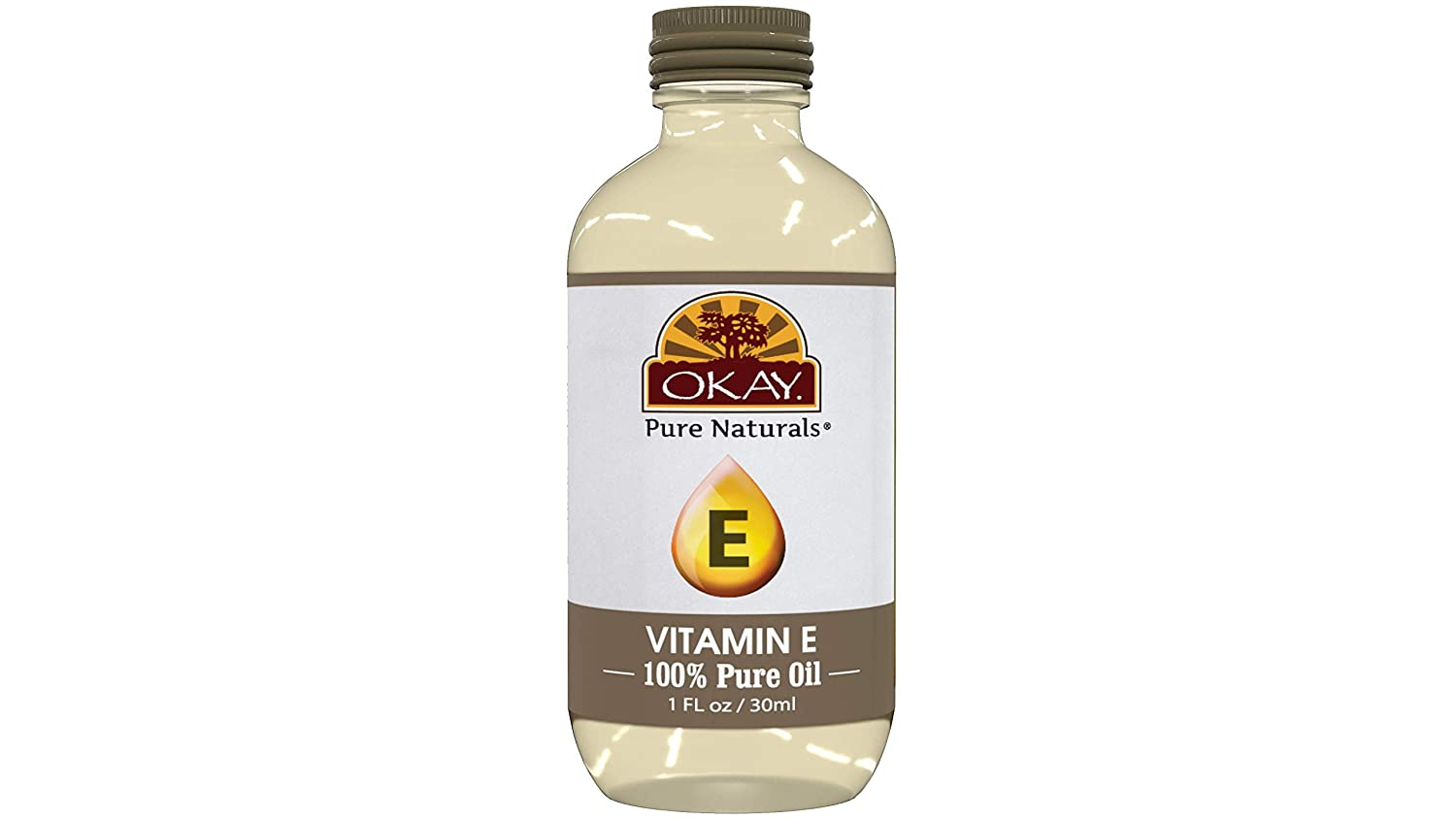 OKAY   Vitamin E Oil   For All Hair Textures & Skin Types   Repair & Grow Strong Healthy Hair - Moisturize & Revitalize Skin   100% Pure   All Natural   1 Oz