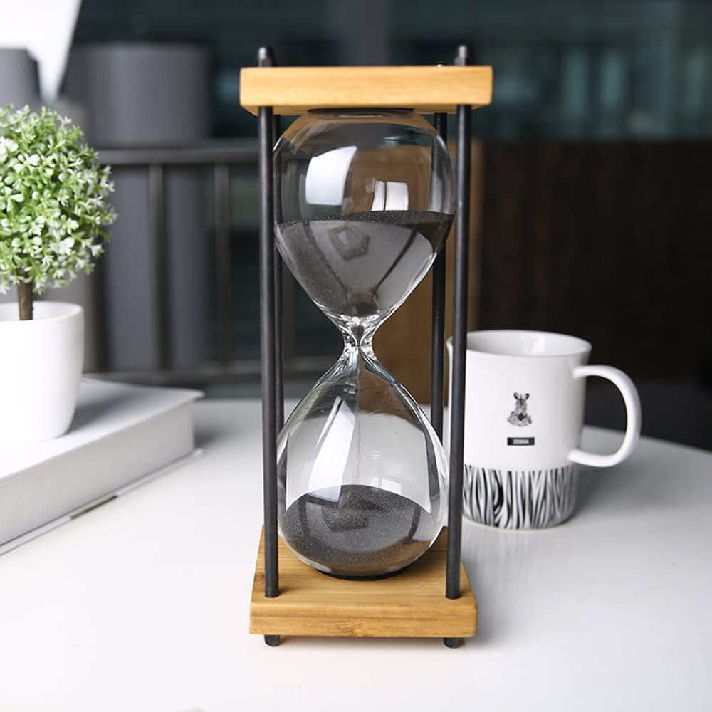 "A picture of Bellaware Large Hourglass Timer to better elaborate ""Best Hourglass clocks 2020'"