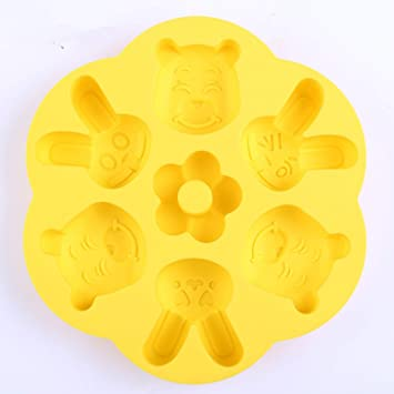 Platinum Silicone Cake Mold, Steamed Rice Cake Mold, Cartoon Steamed Cake Mold, Can Steam Baby Food Supplement Mold