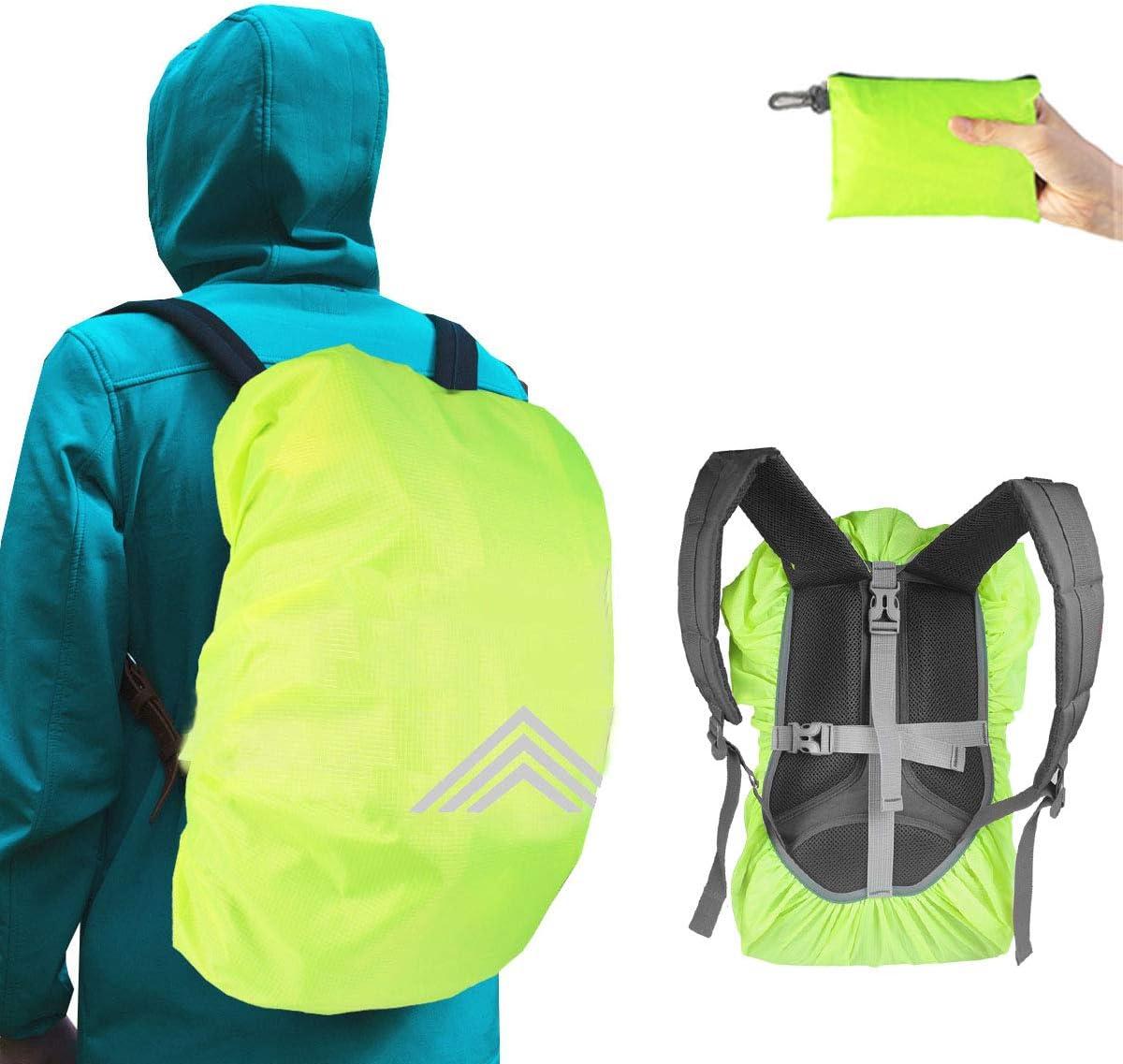 Frelaxy ciclismo Funda impermeable para mochilas 15-90 L camping con reflectores y correa en cruz antideslizante para senderismo