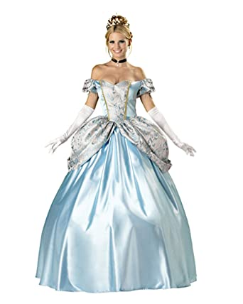 bfc12b237e947 Blue Princess Costume Ball Gown Victorian Dress Storybook Fairytale  Cinderella Sizes: Large