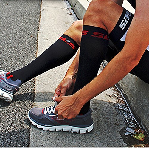 SLS3 FXC Compression Socks, White M/L by SLS3 (Image #3)