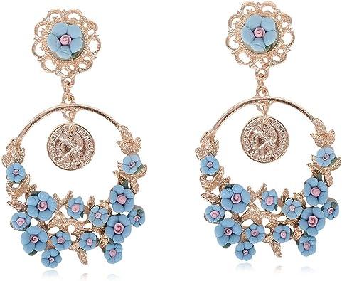 Nature earrings Vintage earrings Flower Earrings Boho Earrings Floral silver earrings Bohemian Silver dangle earrings Women earrings
