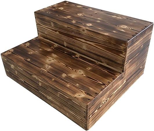 Wood Step Stoo Escalera de taburete de madera de 3 pasos para adultos Artículos para el