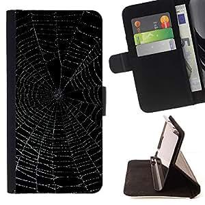 Momo Phone Case / Flip Funda de Cuero Case Cover - Telara?a Negro Noche Noche Resplandeciente - HTC One M9