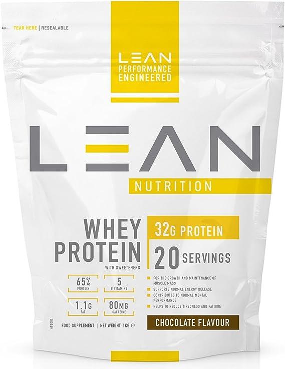 LEAN Nutrition Whey Protein- Proteínas del suero con sabor a chocolate - 1kg