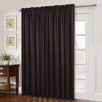 Amazon Com Nicetown Blackout Patio Door Curtain Panel Back Tab