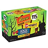 HERSHEY'S Halloween Candy Assortment (Reese, Reese's Piece, Oh Henry, Jolly Rancher) 115 Count