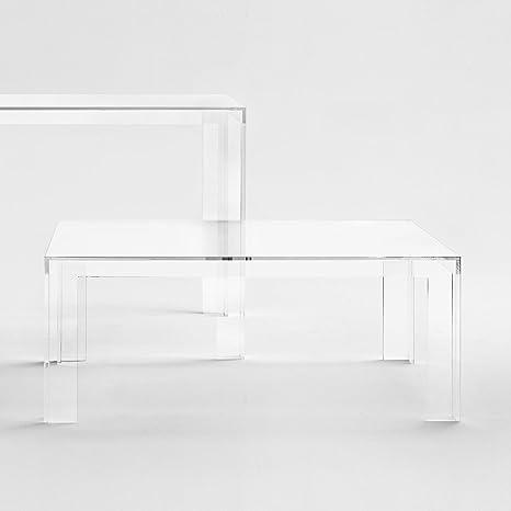 Tavolini Da Salotto Kartell.Kartell Invisible Table Tavolino Da Salotto Plastica