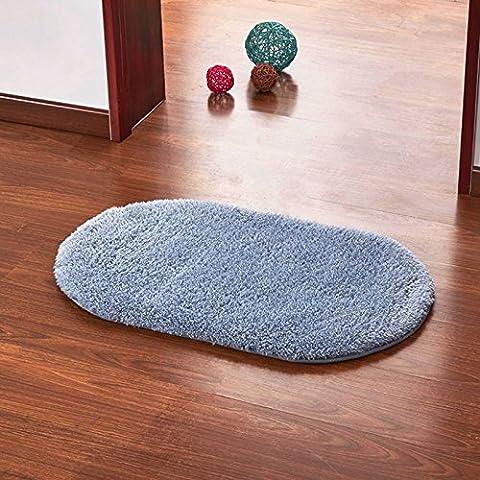Ayutthaya shop Super Magic Slip-Resistant Pad Soft Room Oval Carpet Floor Tapis Salon Mats 40*60CM (Carpet Static)