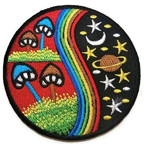 the-nature-patch-mushroom-star-moon-saturn-rainbow-embroidered-iron-on-patches-new