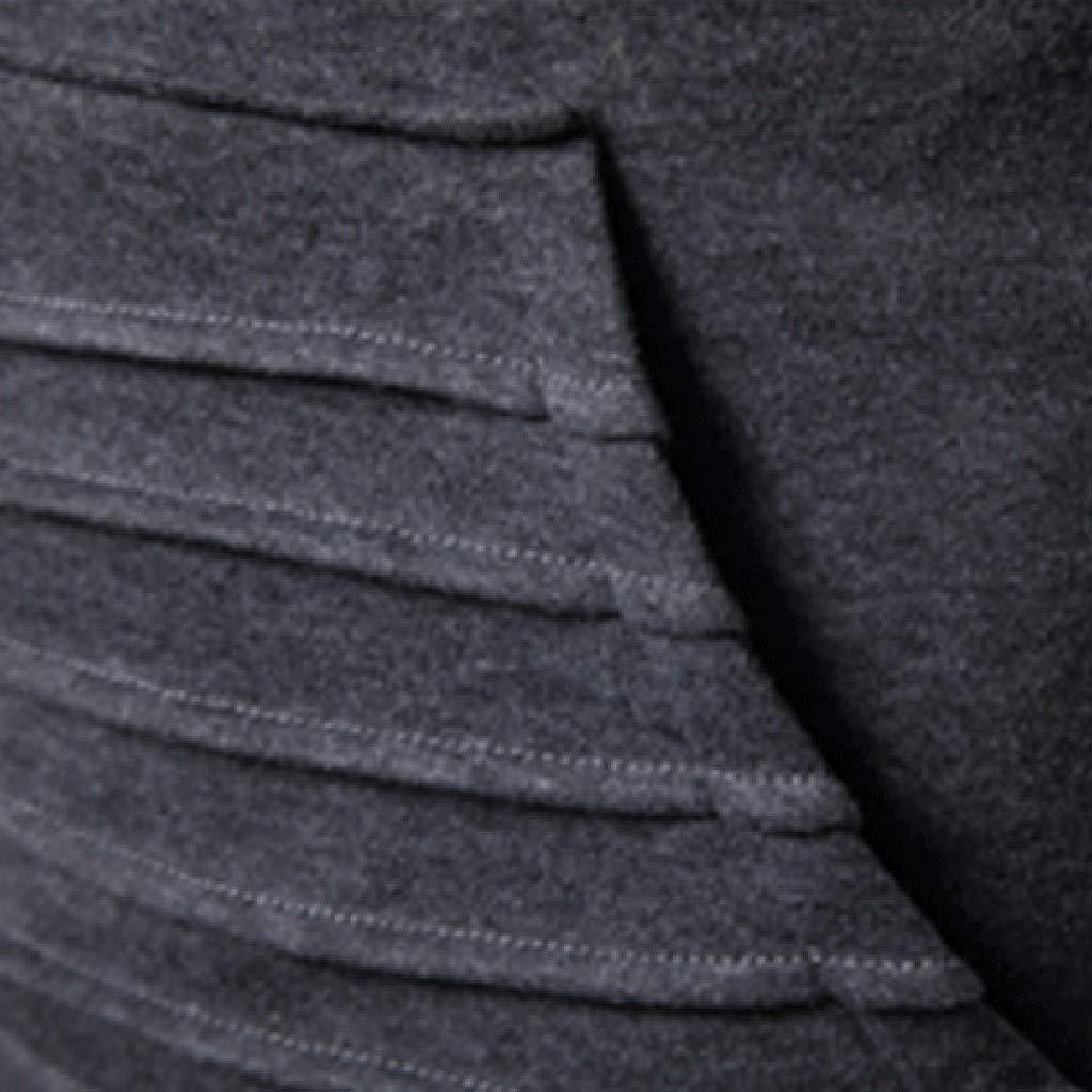 Printemps Automne Hiver Sweat-Shirt Manteau Veste Am/éLiorer Pas Cher Demi Fermeture /éclair Sport Hoodie Modern Et Casual avec Les Rides Grande Poche Sweat /à Capuche Homme
