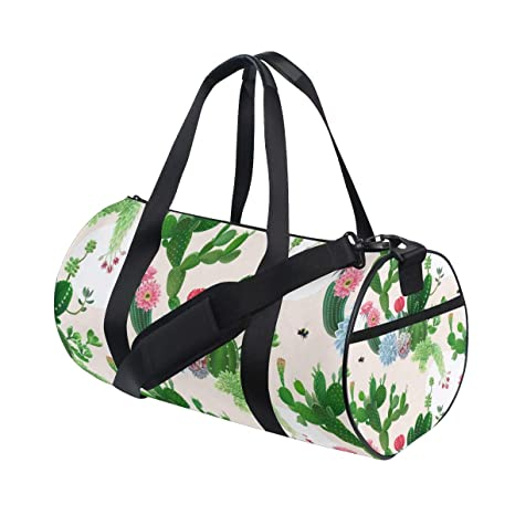 447686232f Image Unavailable. Image not available for. Color  OuLian Sports Bag Plant  Cactus Mens Duffle ...